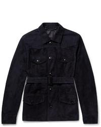 Ermenegildo Zegna Belted Suede Field Jacket