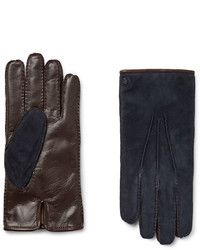 Tod's City Cashmere Lined Suede And Leather Gloves