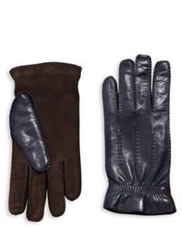 Brunello Cucinelli Lambskin Leather Suede Gloves