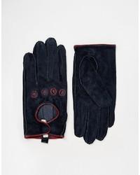 Pieces Suede Cutout Gloves