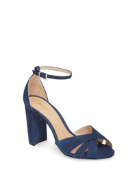 451be981ae35 Women s Navy Suede Heeled Sandals by Schutz