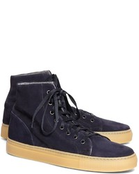 Brooks Brothers High Top Suede Sneaker