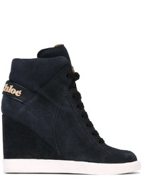 See by Chloe See By Chlo Wedge Hi Top Sneakers