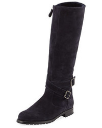 Campocross suede zip knee boot navy medium 3942452
