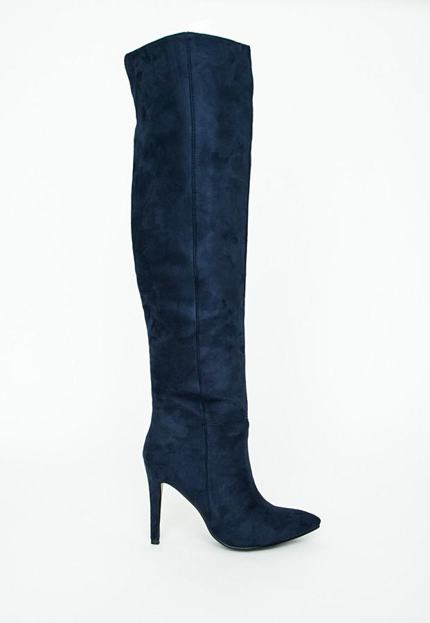 Missguided Kate Faux Suede Knee High