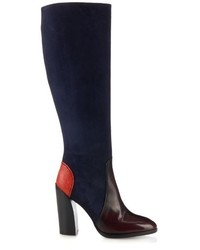 Suede and leather knee high boots medium 350972