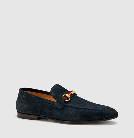 74e09afd9 Gucci Suede Horsebit Loafer, $620 | Gucci | Lookastic.com
