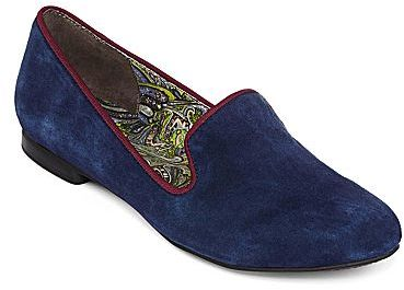 8c8e442d28f6e ... Navy Suede Loafers jcpenney Jcptm Hue Suede Smoking Slippers ...