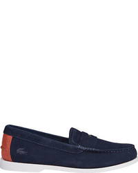 Lacoste Navire Penny Loafer Light Tan Suede Penny Loafers