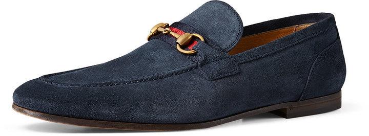 2badde866 Gucci Suede Horsebit Loafer, $620 | Neiman Marcus | Lookastic.com