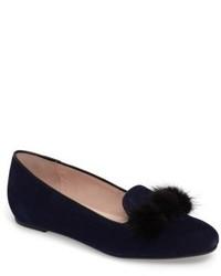 Wallis genuine fur pompom loafer medium 4423035