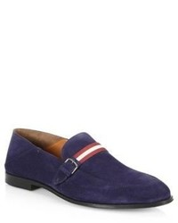 Bally Wendell Convertible Suede Loafers