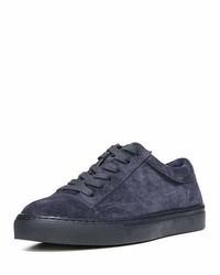 Vince Afton Suede Low Top Sneaker Deep Blue