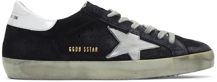 Golden Goose Blue & Brown Suede Superstar Sneakers 0Yo6P