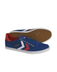 Hummel Stadil Low Top Usa Shoes Canvas Sneakers Bluewhitered