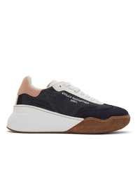 Stella McCartney Navy Loop Lace Up Sneakers