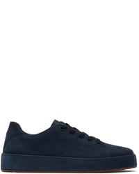 Loro Piana Navy Suede Nuages Sneakers