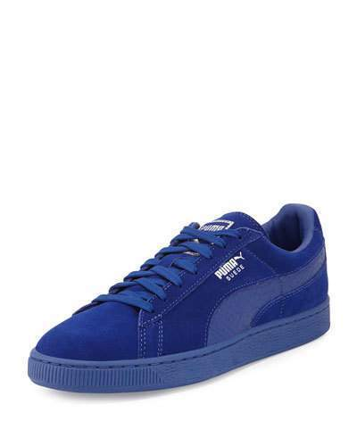 new arrival f953a 75d58 $70, Puma Suede Classic Mono Reptile Sneakers Royal Blue