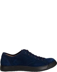 Antonio Maurizi Suede Lace Up Sneakers Blue