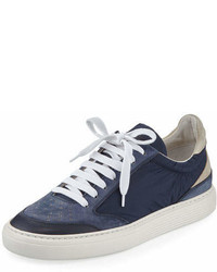 Brunello Cucinelli Suede Leather Low Top Sneaker