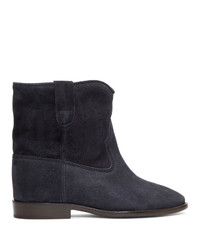 Isabel Marant Black Embroidered Crisi Boots