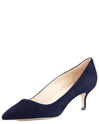 Navy Suede Pumps