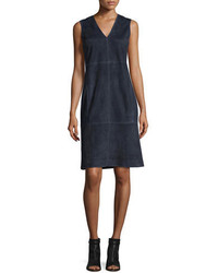 Vince Suede Sleeveless Sheath Dress
