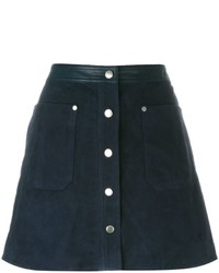 Rag & Bone Buttoned Mini A Line Skirt