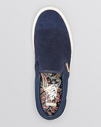 05ab8a1c61 ... Vans Classic Ca Knit Suede Slip On Sneakers