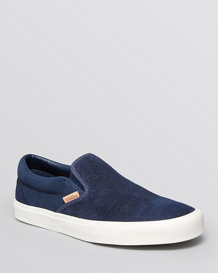 4879bd92f9 ... Vans Classic Ca Knit Suede Slip On Sneakers ...