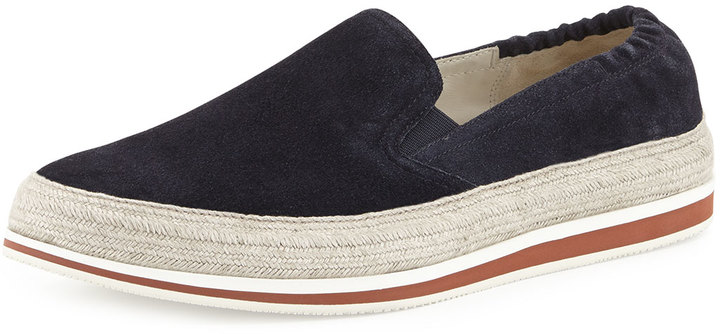 united states diversified latest designs price remains stable $570, Prada Espadrille Slip On Sneaker Blue
