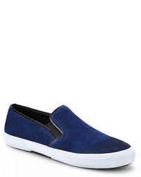 Navy Slip On Sneakers
