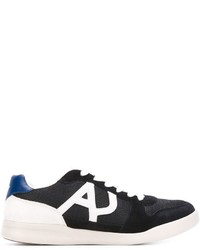Armani Jeans Panelled Logo Sneakers