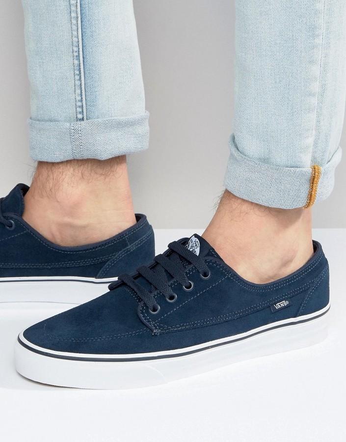 7eecba1089 ... Vans Brigata Suede Sneakers In Blue Va2zabi63 ...