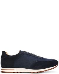 Loro Piana Panelled Sneakers