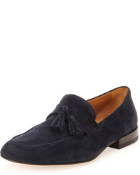 Napa suede tassel loafer navy medium 186113