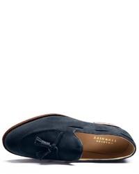 Charles Tyrwhitt Navy Yardley Suede Apron Tassel Loafers
