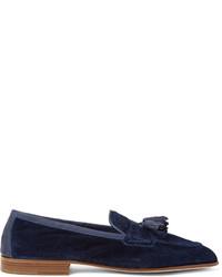 Portland leather trimmed suede tasselled loafers medium 1245606