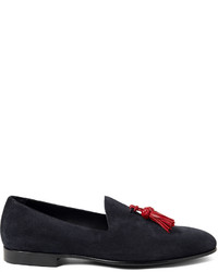 Burberry Prorsum Tasselled Suede Loafers