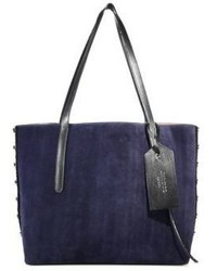 Jimmy Choo Grainy Leather Suede Tote