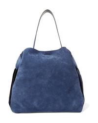 Acne Studios Musubi Maxi Knotted Suede Shoulder Bag