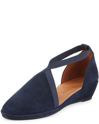 Natalia dorsay demi wedge pump navy medium 647240