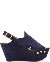 Chloé Chlo Mischa Suede Platform Wedge Sandals