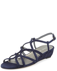 e9cc380e72e9d ... Stuart Weitzman Turningdown Suede Demi Wedge Sandal Baltic Blue