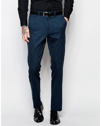 Asos Brand Slim Suit Pants With Tipping In Deep Teal