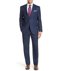 David Donahue Big Tall Ryan Classic Fit Solid Wool Suit