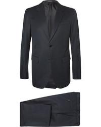 Jil Sander Blue Slim Fit Cotton Gabardine Suit