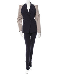 Roland Mouret Colorblock Double Breasted Pantsuit W Tags