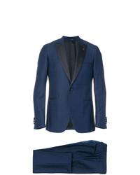Lardini Contrast Lapel Suit