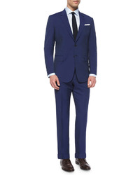 Hairline stripe two piece suit blue medium 300994
